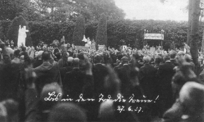 Wallfahrt im Jahr 1937